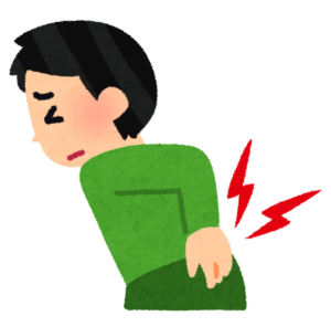 腰に痛みがある男性のイラスト